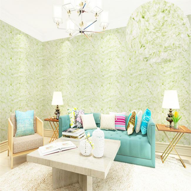 Нежный оливковый цвет придают гостиной романтичности