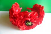 Фото 24 Цветы из атласных лент: пошаговые инструкции и мастер-классы по созданию букетов, топиариев и обручей