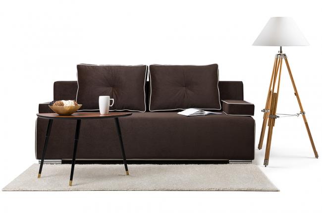 Стильный диван Лиссабон цвета кофе