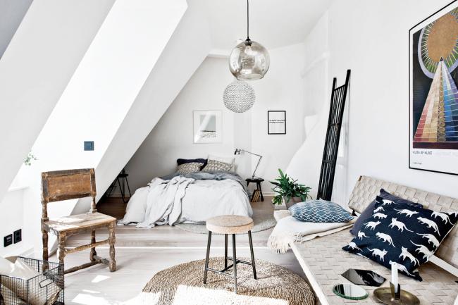 Белый цвет - краеугольный камень скандинавского стиля в интерьере