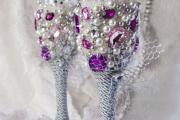 Фото 32 Декор свадебных бокалов: избранные мастер-классы и трендовые идеи оформления в 2019 году