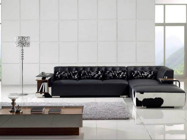 Угловой диван консул в натуральной коже