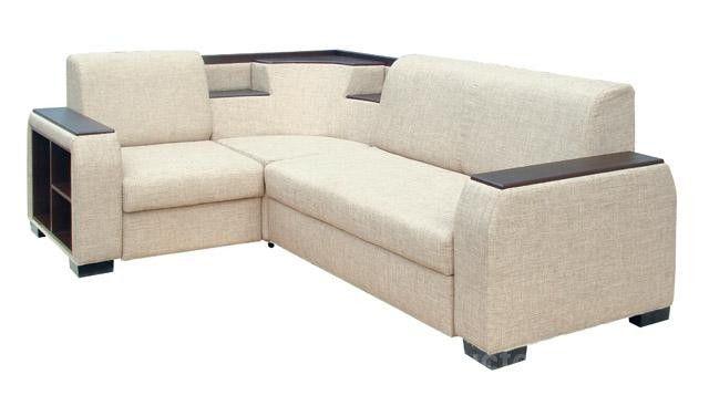 Основная характерная черта дивана консул - множество полочек и подставок на изделии
