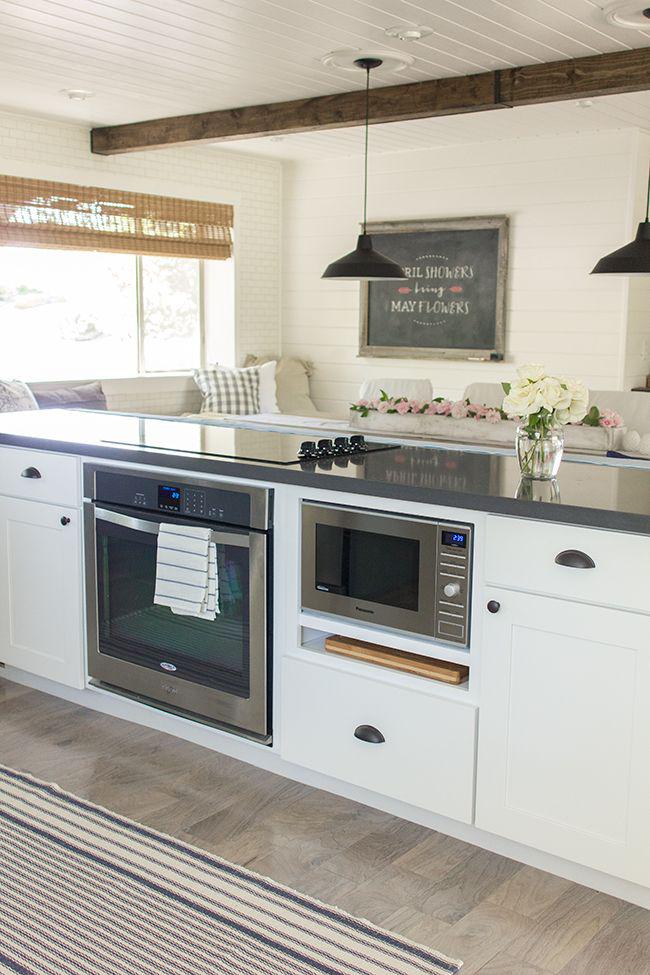Встроенная микроволновка сэкономит пространство в небольшой кухне