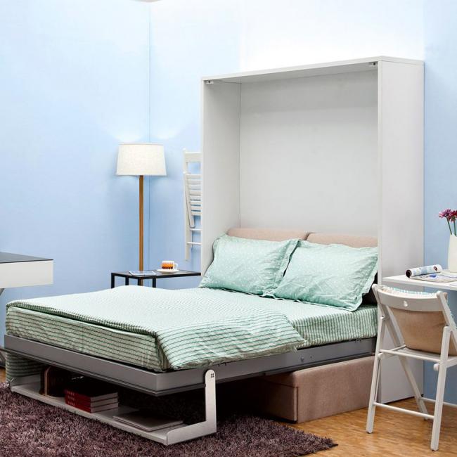 Полноценная шкаф-кровать с ортопедическим матрасом