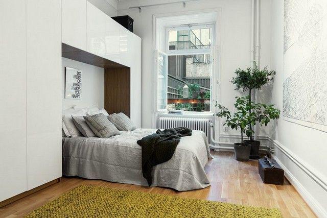 Освобождение пространства небольшой комнаты с помощьюпродуманной расстановки предметов