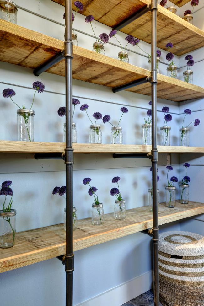 Сухие цветы скабиозы для декора интерьера