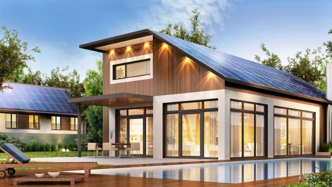 Проект частного дома с солнечными коллекторами
