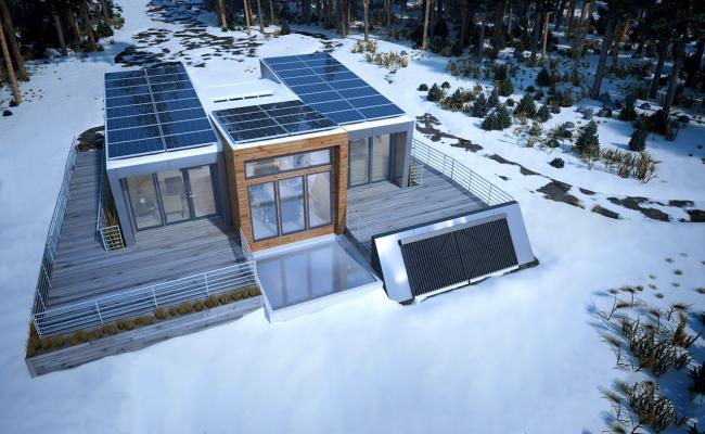 В холодное время года эффективность солнечных коллекторов падает