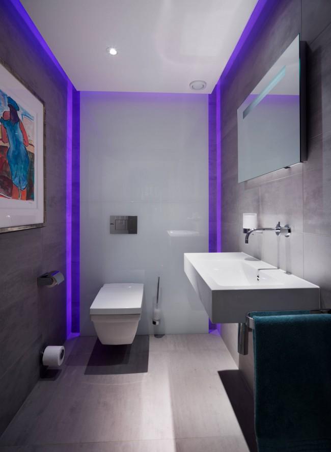 Подвесной унитаз - оригинальный предмет интерьера в ванной комнате