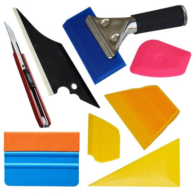 Инструменты для поклейки витражной пленки