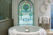 Фото 24 Витражная пленка на стекло: 80+ утонченных решений для домашнего декора