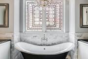 Фото 25 Витражная пленка на стекло: 80+ утонченных решений для домашнего декора
