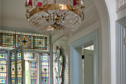 Фото 34 Витражная пленка на стекло: 80+ утонченных решений для домашнего декора