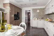 Фото 22 Акцентная зона: 70+ стильных вариантов мозаики на кухонный фартук