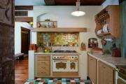 Фото 14 Акцентная зона: 70+ стильных вариантов мозаики на кухонный фартук
