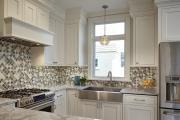 Фото 12 Акцентная зона: 70+ стильных вариантов мозаики на кухонный фартук