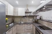 Фото 24 Акцентная зона: 70+ стильных вариантов мозаики на кухонный фартук
