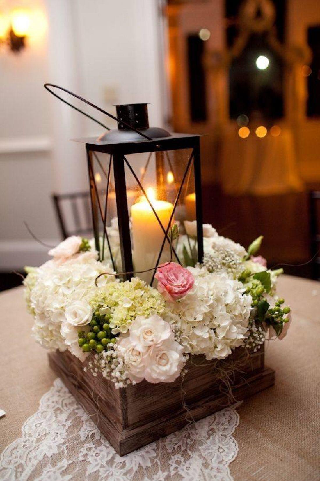 Композиция свечами и цветами фото