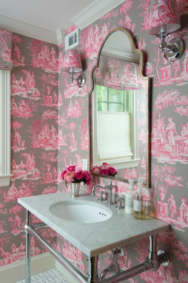 Оригинальное сочетание цветов для ванной комнаты