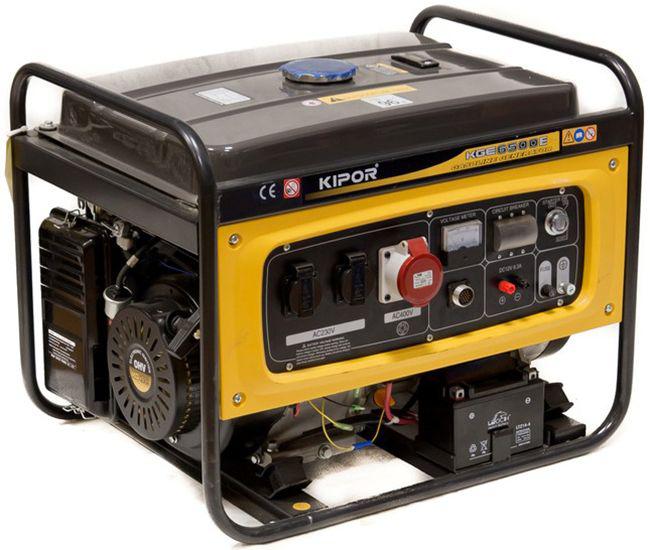 Модель KGE6500E KIPOR. Номинальная мощность 5 кВт, максимальная мощность 5,5 кВт