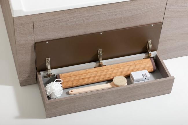 Экран для ванной с выдвижным ящиком