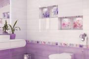 Фото 6 Фиолетовая плитка в интерьере: 70+ идей гармоничных сочетаний оттенков, принтов и фактур