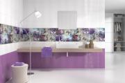 Фото 7 Фиолетовая плитка в интерьере: 70+ идей гармоничных сочетаний оттенков, принтов и фактур