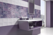 Фото 8 Фиолетовая плитка в интерьере: 70+ идей гармоничных сочетаний оттенков, принтов и фактур