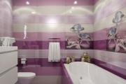Фото 3 Фиолетовая плитка в интерьере: 70+ идей гармоничных сочетаний оттенков, принтов и фактур