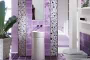 Фото 21 Фиолетовая плитка в интерьере: 70+ идей гармоничных сочетаний оттенков, принтов и фактур