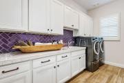 Фото 4 Фиолетовая плитка в интерьере: 70+ идей гармоничных сочетаний оттенков, принтов и фактур