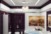 Фото 13 Фиолетовая плитка в интерьере: 70+ идей гармоничных сочетаний оттенков, принтов и фактур