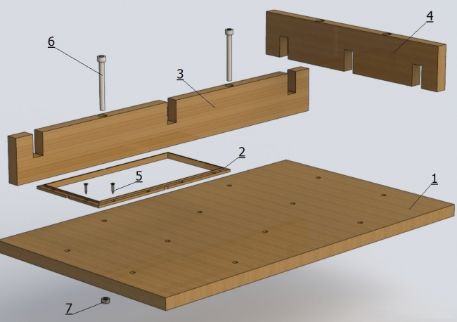 Схема построения трафарета для плитки из дерева своими руками