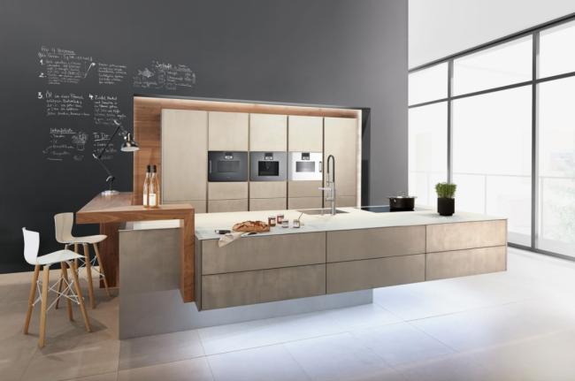 Современный дизайн мебели с гладкими фасадами