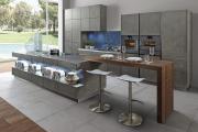 Фото 6 Минимализм в тренде: обзор элегантных кухонь без ручек и варианты их механизмов