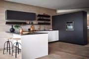 Фото 16 Минимализм в тренде: обзор элегантных кухонь без ручек и варианты их механизмов