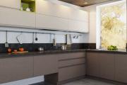 Фото 19 Минимализм в тренде: обзор элегантных кухонь без ручек и варианты их механизмов