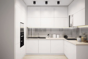 Фото 39 Минимализм в тренде: обзор элегантных кухонь без ручек и варианты их механизмов