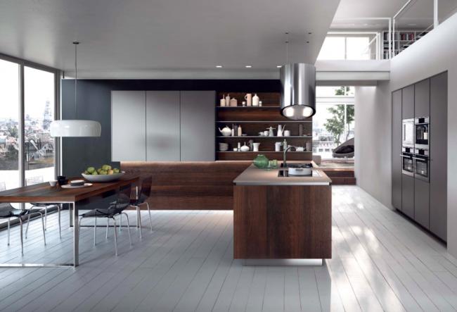 Красивый фасад кухни, не обремененный дополнительными аксессуарами