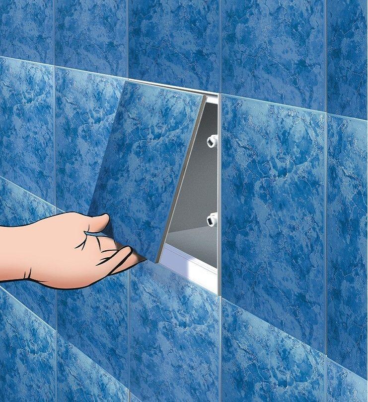Экран для ванны на магнитах своими руками 59