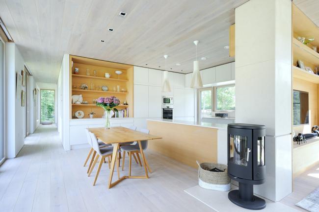 Просторная кухня в стиле модернизм