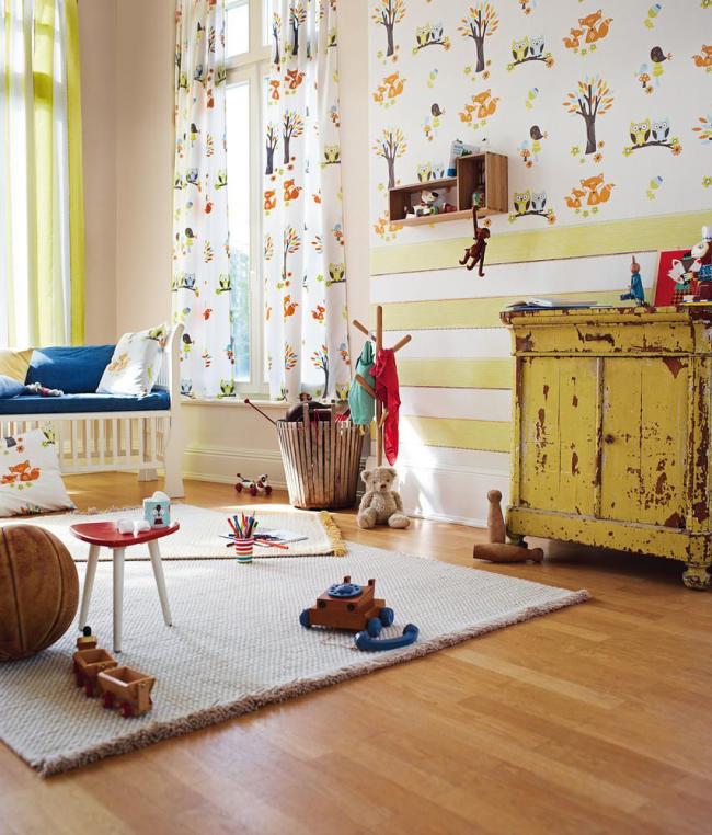 Красивая и оригинальная отделка стен в детской