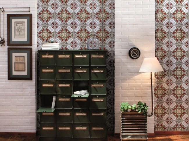 Разнообразие текстуры и оттенков декора стен