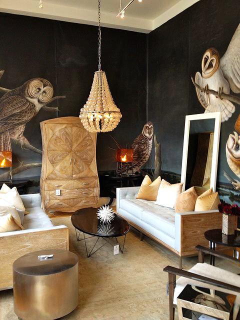 Оформление комнаты с изображением хищников