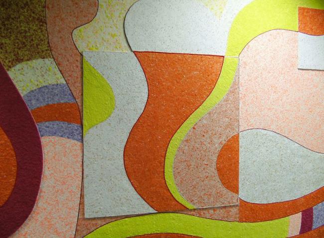 Настенное панно из ярких хаотичный полос