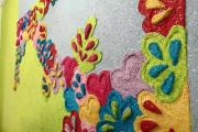 Фото 1 Картины и рисунки из жидких обоев: превращаем обыкновенные стены в яркие арт-объекты