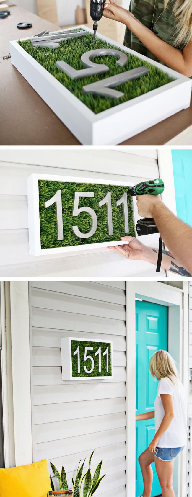 Изготовление адресной доски своими руками