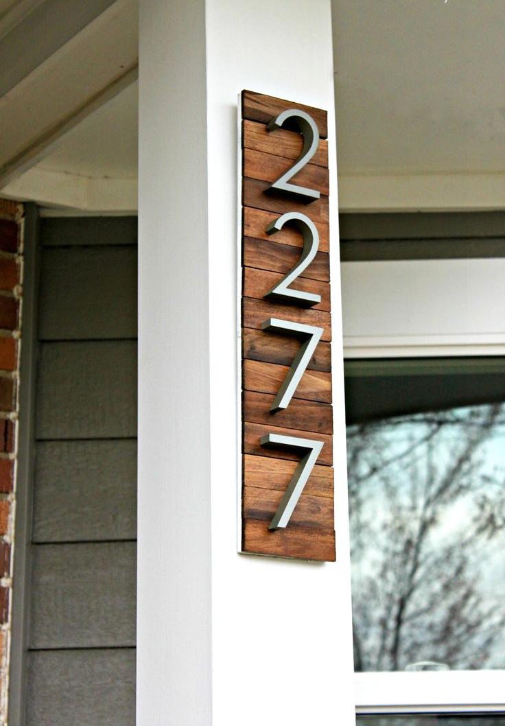 Табличка с номером дома: 60 потрясающих идей своими руками