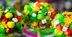 Топиарий из фруктов: мастер-класс по созданию аппетитного шедевра своими руками фото